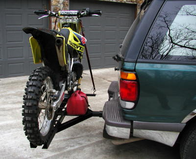 Front bumper dirt bike rack